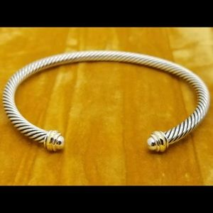David Yurman 4mm 18k Gold Cable Cuff